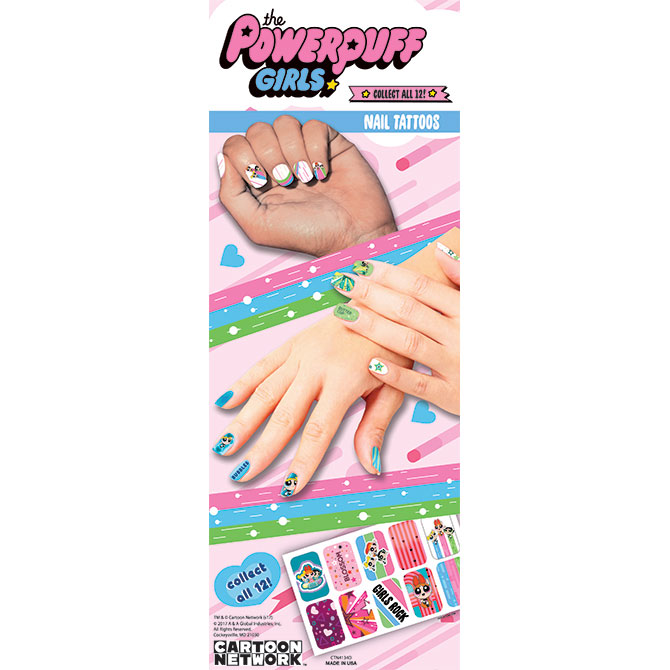 Powerpuff Girls Nail Tattoos Display