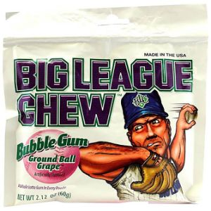 Big League Chew Grape Bubble Gum Display Box (12 pcs)