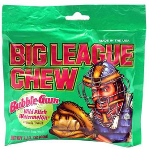 Big League Chew Watermelon Bubble Gum Display Box (12 pcs)