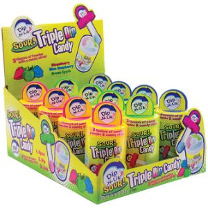 Sour Triple Dip-N-Lik Display Box (12 pcs)
