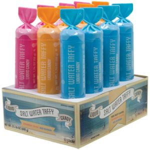 Salt Water Taffy Liquid Candy Display Box (12 pcs)