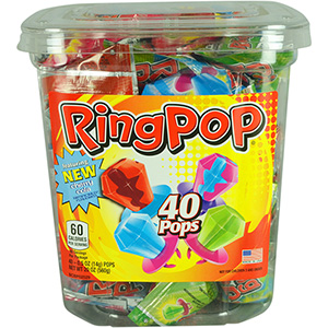 Ring Pops Display Jar (40 pcs)