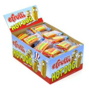 eFrutti Gummi Hot Dogs Display Box (60 pcs)