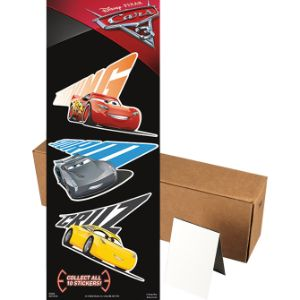 Disney Cars 3 Stickers in Folders (300 pcs)