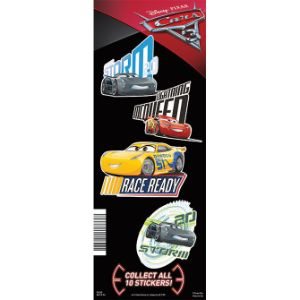 Disney Cars 3 Stickers Display Card