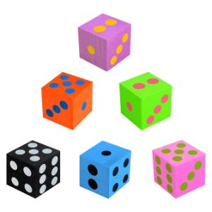 Foam Dice 1.5'' (12 pcs)
