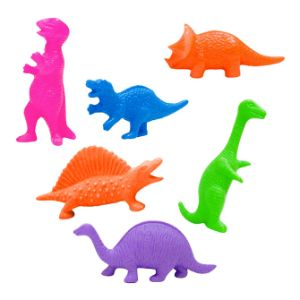 Plastic Dinosaurs 2'' in Bulk Bag (144 pcs)
