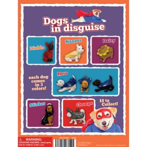 Dogs In Disguise Tomy Display Card