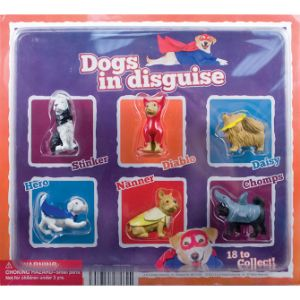 Dogs in Disguise Figurines Blister Display