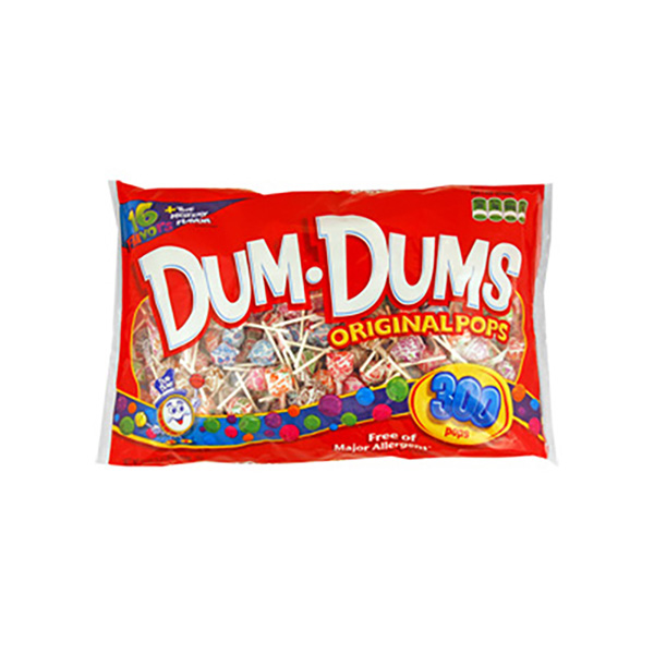 Dum Dums Pops Assorted Bag (300 pcs)