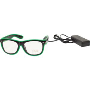 Black Frame Wire Glasses
