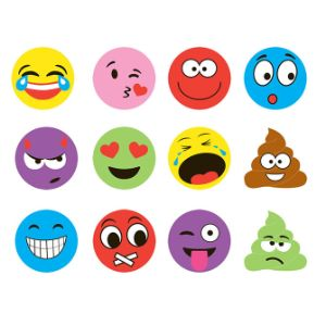 Emoji Phone Stickers 12pc