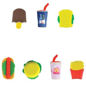 Fast Food Erasers in Bulk Bag (100 pcs)