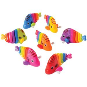 Rainbow Fish Wind Ups 4.5'' (4 pcs)