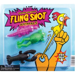 Fling Shot Animals Toys Blister Display