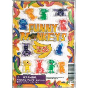 Funny Monkey Figurines Blister Display