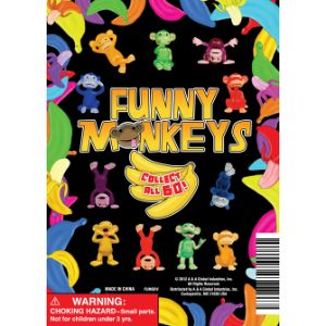 Funny Monkeys Figurines Display Card