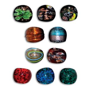 Art Glass Rings Assorted Styles (12 pcs)