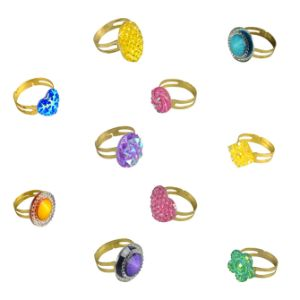 Glitz Rings in Bulk Bags (100 pcs)
