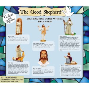 The Good Shepherd Figurine Display Card