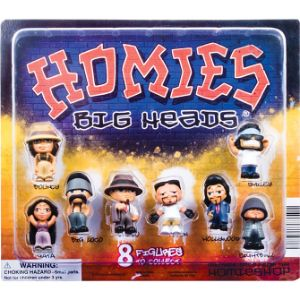 Homies Big Head Figurines Blister Display