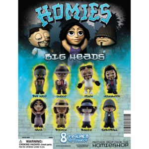 Homies Big Heads Tomy Display Card