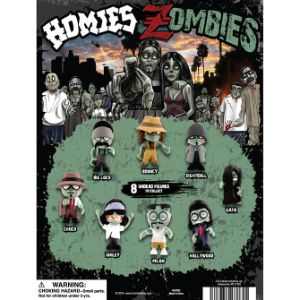 Homies Zombie Figurines Tomy Display Card