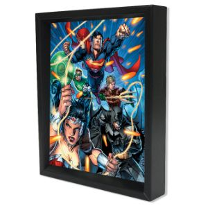 Justice League Shadow Box Wall Art 3D