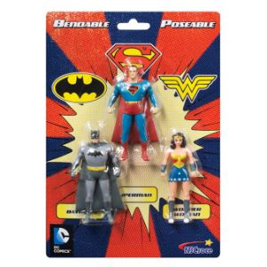 Justice League Mini Bendable 3pk