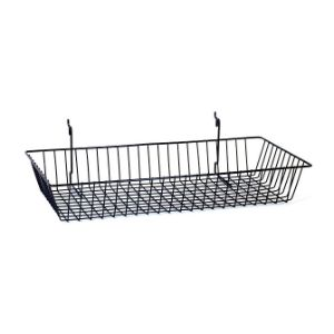 Wire Basket Black (24'' x 12'' x 4'')
