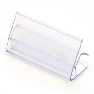 Ticket Label Holder Clear (2.5'' x .25'')