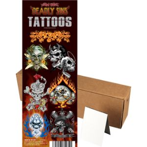 Deadly Sins/Twisted Fate Tattoos in Folders (300 pcs)