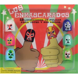 Luchadores Thumb Wrestlers Blister Display