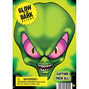 Glow-in-the Dark Aliens Display Card