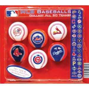 MLB Mini Baseballs Blister Display