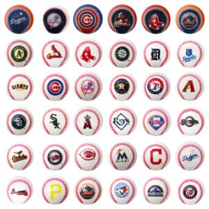 MLB Mini Baseballs in Bulk Bag (36 pcs)