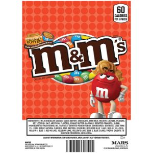 M&M's Peanut Butter Candies Display Card