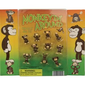 Monkeyin' Around Figurines Blister Display