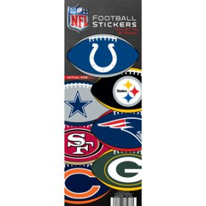 NFL Logo Football Stickers Display