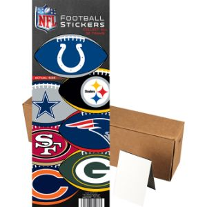 NFL Logo Football Stickers in Folders (300 pcs)