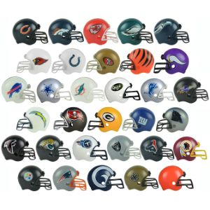 NFL Football Helmets in 2'' Capsules (250 pcs)