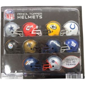 NFL Football Helmet Pencil Toppers Blister Display