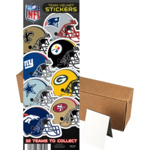 NFL Helmet Stickers in Folders (300 pcs)