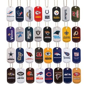 NFL Dog Tags in 2'' Capsules (250 pcs)