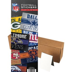 NFL Vintage Stickers in Folders (300 pcs)
