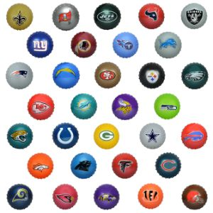 NFL Inflatable Knobby Balls, 5''