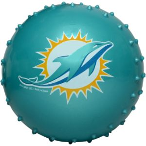 5'' NFL Inflatable Knobby Miami Dolphins Balls (100 pcs)
