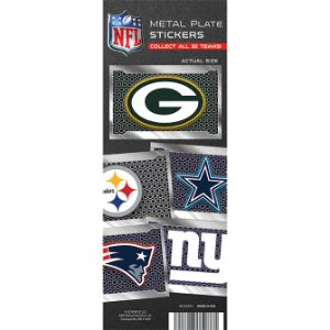 NFL License Plate Team Stickers Display