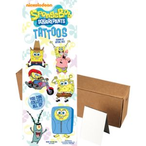 SpongeBob SquarePants Tattoos in Folders (300 pcs)