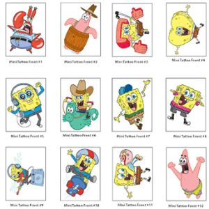 SpongeBob Mini Tattoos in Bulk Bag (2400 pcs)